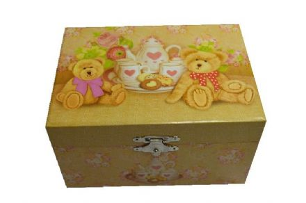 Children's Classic Teddy Bear Musical Jewellery Box 22179